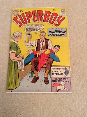 Superboy Comic #75, 1959, High Grade