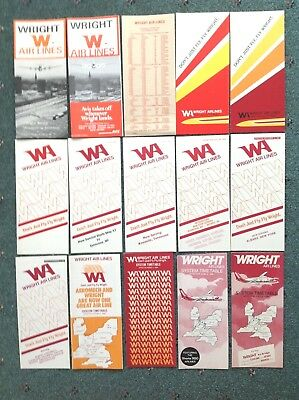 1968-1984 (15) WRIGHT AIR LINES Commuter TIMETABLES