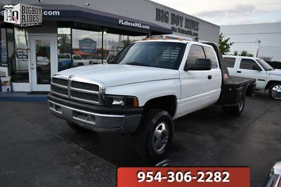 1997 Dodge Ram 3500 SLT LARAMIE 1997 Dodge Ram 3500 4x4 5.9 12 Valve Cummins Diesel Flatbed TX Dually WE SHIP !