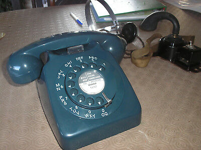 746 GPO TABLE TELEPHONE - Converted & Rebuilt - CONCORDE BLUE - FREE POSTAGE