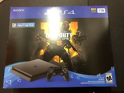 Playstation 4 PS4 Sony Slim Console Call Of Duty Black Ops Bundle New 1 TB