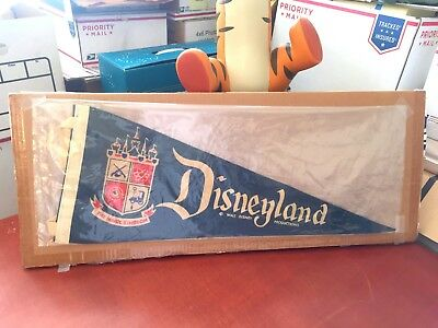 *RARE* 1958 Disneyland Park Blue Felt Pennant  GREAT CONDITION!!