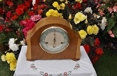 Smiths Antique Art Deco Westminster Chime Mantel Clock, Very Rare & Excellent!