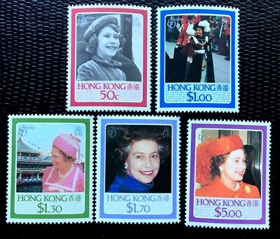 1987 Hong Kong SC#465-469 QEII 60th Birthday Full Set MNH/OG