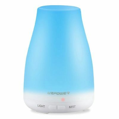 URPOWER 2nd Version Essential Oil Diffuser Aroma Cool Mist Humidifier LED Light