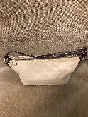 324d8c25d3 Authentic CELINE Pouch Brown monogram canvas with Brown Leather Trim small  bag