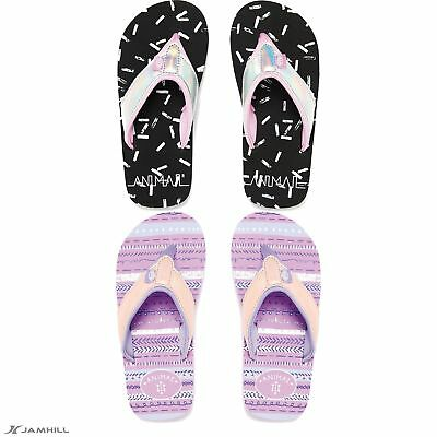 8c421051fa8e7b Animal Girls Swish Glitz Flip Flops Metallic Glitter Upper