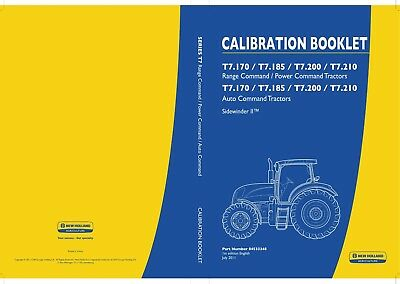 NEW HOLLAND T7 170-210 Tractor Operators Manual On Cd Cd39 - $11 86