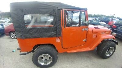 1972 Toyota Land Cruiser FJ40 1972 Toyota Land Cruiser FJ40 MATCHING NUMBERS 4x4 Soft Top Coupe Orange/Grey