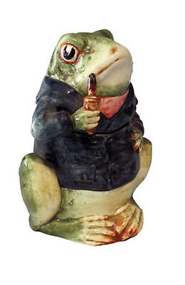 English Ceramic Mr. Toad Small Cookie/ Tobacco Jar with Lid, Ca 1910
