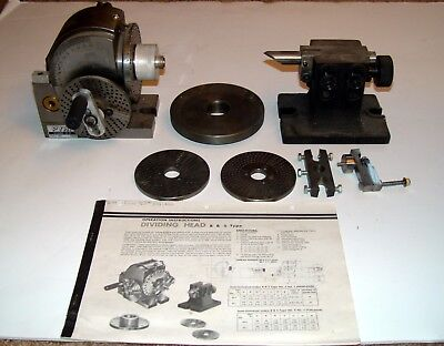 Enco # 203-4000 PYH Dividing Head , B&S type 40 to 1 ratio w/ plates, tailstock