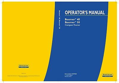 NEW HOLLAND MODELS Boomer 40 & 50 Compact Tractor Shop