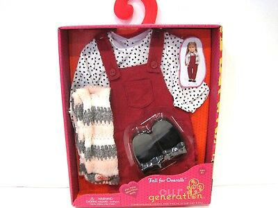 Our Generation Fall For Overalls Outfit Set Doll Clothes New in Box