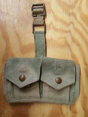 Early WW2 British P37 Twin Web 1940 Date Rifle Ammo Pouches Enfield .303