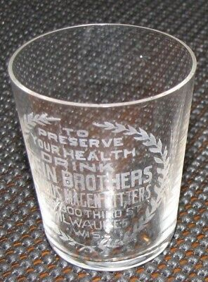 Antique Zein Brothers Bitters dose glass