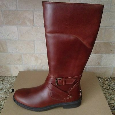 1a88b7a3319 UGG EVANNA STOUT Tall Waterproof Leather Rain Snow Boots Size Us 9.5 Womens
