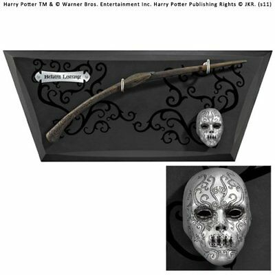 Noble Collection Bellatrix Wand with Wall Display & Mini Mask (r1L)