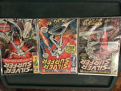 Silver Surfer Comic Book Lot 16,17,18 Silver Age