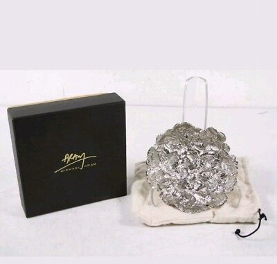 """Michael Aram 111859 White Orchid Nut Candy Dish.. 6"""" X 6"""" X 2"""" Inches"""