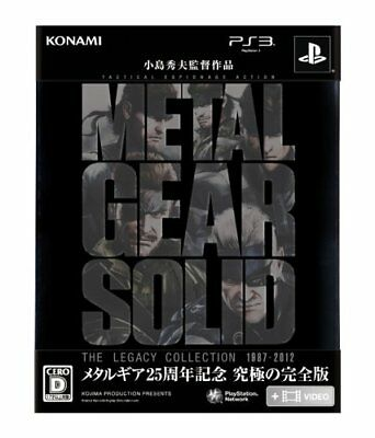 New PS3 Metal Gear Solid The Legacy Collection JAPAN Sony PlayStation 3 import