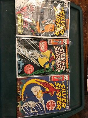 Silver Surfer Comic Book Lot 13, 14, 15 Silver Age