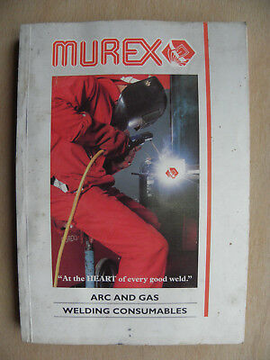 Murex Welding Consumables Products Catalogue Arc Gas Mig Tig Oxy-Acetylene 1995