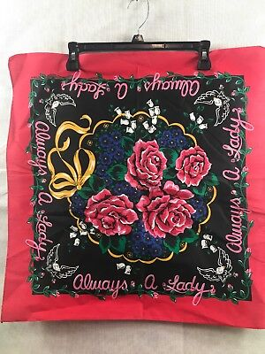 Vintage. Lady Biker Bandana New Old Stock Free Shipping Great Colors