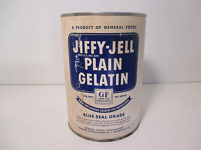 """JIFFY-JELL"" VINTAGE CAN of PLAIN GELATIN Exceedingly Rare! LQQK!!!"