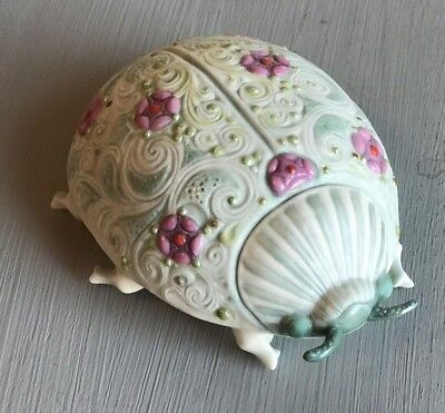 "Cybis Antique Porcelain ""Lady Bug"" MINT Signed, Dated 27-8-18"