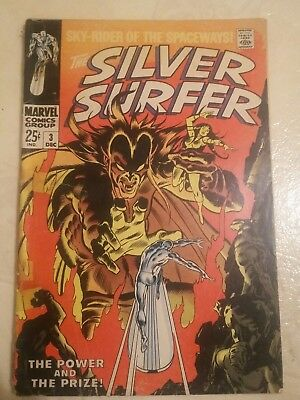 Silver Surfer #3 Mephisto appearance (Marvel 1968, Stan Lee) Readers Copy