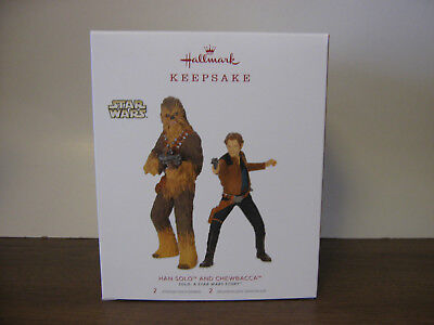 2018 Hallmark Keepsake Star Wars Han Solo And Chewbacca NIB