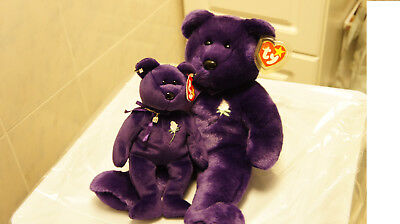 Ty Beanie Babies Princess With Earrings Necklace And Buddy Princess Bears New