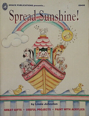 Spread Sunshine By Linda Johnston Clothing & Shoe Designs Tole Painting Book EUC