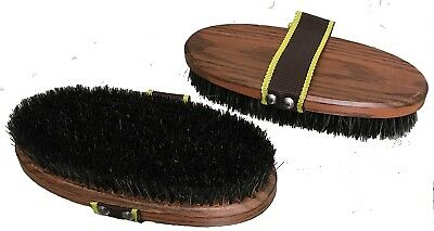 Large Natural Bristle Body Brush Grooming Horse Riding Care Grooming ~ Set Of 2