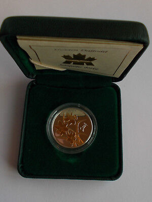 2003 Canada Golden Daffodil Silver With Gold Gilt 50 Cent In Box With Coa