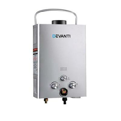 Portable Silver Gas Hot Water Heater Shower Camping Caravan Outdoor LPG 4WD
