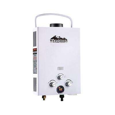White Portable Gas Hot Water Heater Shower Camping Caravan Outdoor LPG 4WD