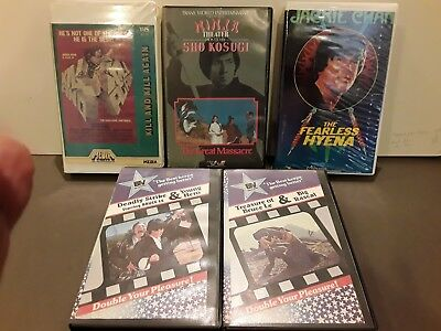 (5) Vintage Martial Arts Vhs Tapes. Very Rare And Collectable.