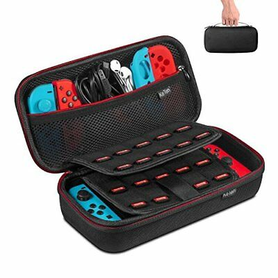 Nintendo Switch Carrying Case Protective Portable Hard Shell 19 Game Cartridges