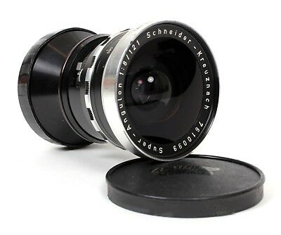 Schneider Super-Angulon 121mm F8 Lens in Compur Housing (for 4X5 and 5X7)