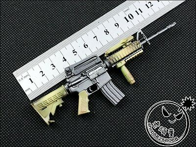 "1/6 Scale Army Solider Gun Model Camouflage M4 M4A1 Toy Rifle For 12"" Figure"