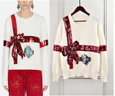 White Red Ladybird Check Knitted Sweater Cardigan Runway Occident 95j