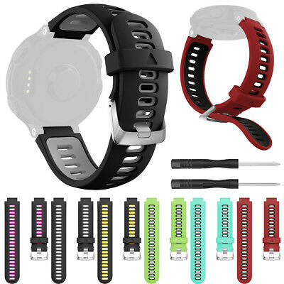 Soft Silicone Replacement Wrist Strap Watch Band for Garmin Forerunner 735XT