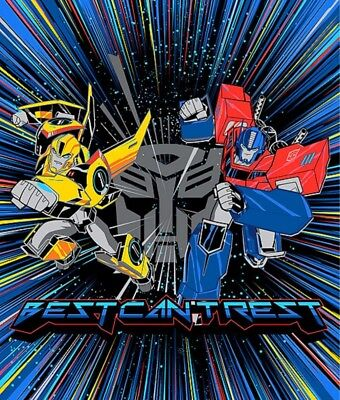 Transformers Quilt Panel * Best Cant Rest * Black * New * Free Post *