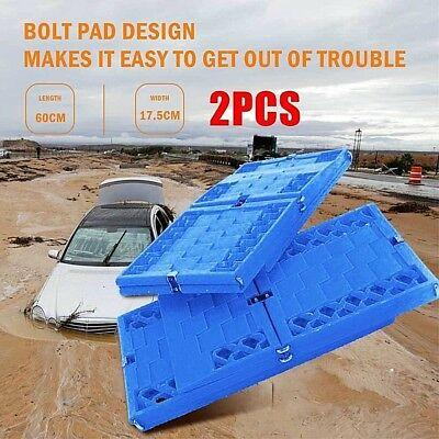 2pcs 4WD Recovery Tracks Device Max Trax Ramps for Sand Mud Snow Grass Sand Road