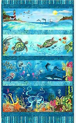 Ocean State Quilt Panel * Under Water Ecosystem * New *  Free Post *