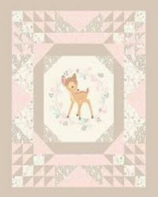 Bambi Convenience Quilt Panel * New * Free Post * Quilt Ready * Beautiful *