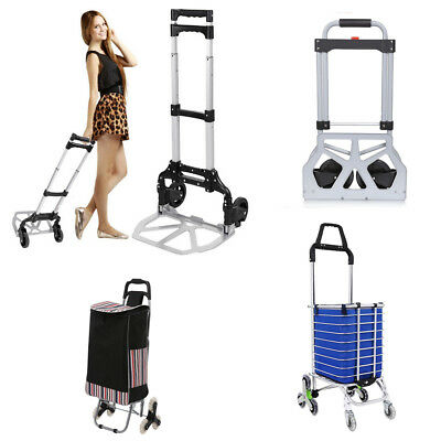 110/150/220lbs Portable Folding Hand Truck Dolly Luggage Carts Shopping Carts