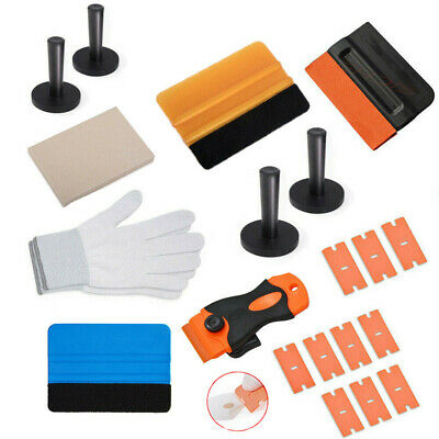 Auto Film Wrap Application Tools Kit Vinyl Sheet Squeegee Razor Cutter Foil Tint