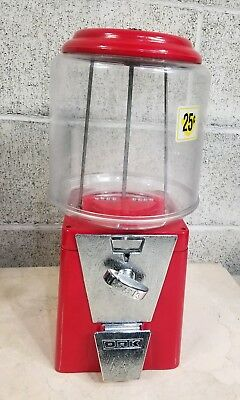 25 Cent  Gumball Candy Peanut Oak Acorn   Machine  1960's  Working Looking Good